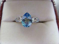 VINTAGE BLUE TOPAZ Ring