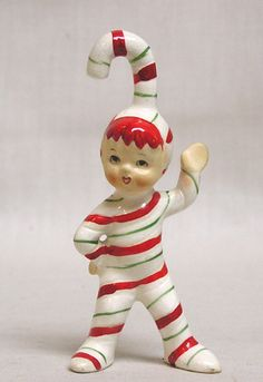 Lefton candy cane boy...my grandparents had these, then we had them, now I have them...