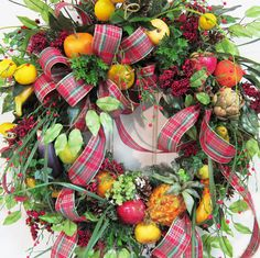 I want!!!   Williamsburg Christmas Outdoor Wreath Filled by LadybugWreaths