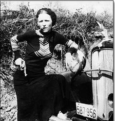 Bonny Parker, criminelle des année 30, compagne de Cyde Barrow