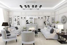 Classic Glamorous Design For An Apartment by Natalia Ozerova, Saint Petersburg    DesignRulz.com