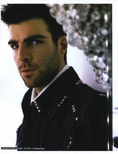 Zachary Quinto. I just want to run my fingers through his hair....