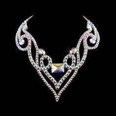 """Jive at Five"" - Swarovski ballroom necklace. Ballroom dance jewelry, ballroom dance dancesport accessories. www.tzafora.com Copyright ©️️ 2017 Tzafora."