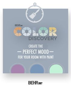 Looking for an easy way to create a paint color palette for your next DIY home makeover project? Try out the Color Discovery tool by Behr paint. Simply select the room you want to paint and the mood you want to create. Color Discovery will do the rest. Click below to get started.