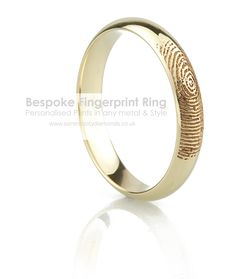 Fingerprint Wedding Rings - Unique Fingerprint Rings in 5 Easy Steps His And Her Wedding Rings, Types Of Wedding Rings, Wedding Ring Styles, Wedding Rings Simple, Beautiful Wedding Rings, Wedding Ring Designs, Wedding Bands, Wedding Stuff, Wedding Ideas