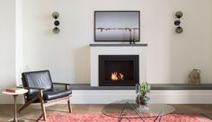 ROOST Apartment Hotel #fireplace #terrain #sconce