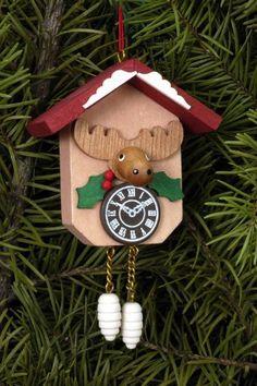 Tree ornament Cuckoo Clock with Moose - Christian Ulbricht