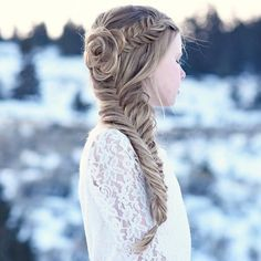 #fishtail side braid hairstyles for fall / winter | cute | chic | for girls and women | easy | for beginners | #hairstyles | flower