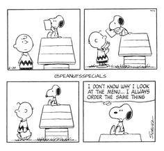 First Appearance: June 29th, 1971 #peanutsspecials #ps #pnts #schulz #snoopy #charliebrown #look #menu #order #samething www.peanutsspecials.com