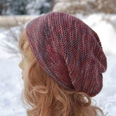"""Free hat pattern! This one's called the Rikke Hat by Sarah Young. I used one skein of Morning Bright Farm Holistic Merino DK in """"Not Fade Away"""" for this. Find the yarn in my Etsy shop https://www.etsy.com/shop/MorningBrightFarm and the pattern here http://www.ravelry.com/patterns/library/rikke-hat"""
