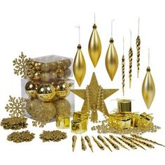 Buy Gold Christmas Tree Decorations - 75 Pack at Argos.co.uk - Your Online Shop for Christmas tree decorations.