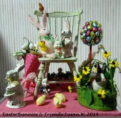 Easter Bunnies and Friends (front view)