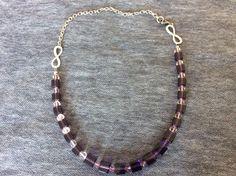 Colier din cristale cubice mov de 10 şi  6 mm, cristale biconice roz cu o infinită strălucire ;)    bijuterii.micky@gmail.com #bijuteriihandmade Bracelets, Jewelry, Fashion, Bangles, Jewellery Making, Moda, Arm Bracelets, Jewelery, Bracelet
