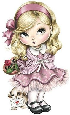 """Photo from album """"Куколки on Yandex. Cute Images, Cute Pictures, Bing Images, Adorable Petite Fille, Art Mignon, Cute Clipart, Cute Dolls, Pretty Dolls, Cute Illustration"""