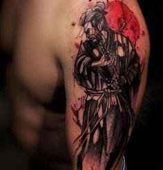 Möchten Sie sich ein Samurai Tattoo stechen lassen? Klicken Sie hier und holen Sie sich Inspirationen von unserer Bildergalerie.
