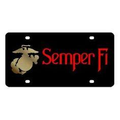 Marines Semper Fi License Plate
