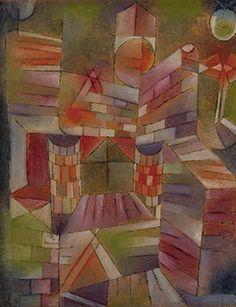 Paul Klee, Architectur m. d. Fenster, 1919, 157. Olfarbe und Feder auf Papier auf Holz, 50 x 41.5 cm. Zentrum Paul Klee, Bern.