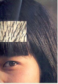 3: Haste capilar do cabelo liso.