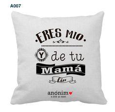 Regalos originales y personalizados en #YosoyAnonimo #Almohadas #Almohadaspersonalizadas #MiNovio
