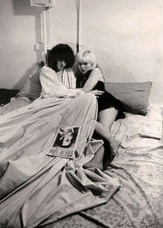 "Ramones- Joey and Debbie Harry""spread for Punk Magazine, 1977..."