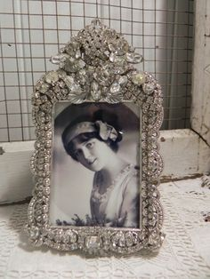 Vintage Jeweled frame