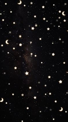 Save as-is or click through to make your own space-inspired wallpaper with our galaxy backgrounds and Starry Lights brush 📲✨ B&w Wallpaper, Whats Wallpaper, Black Phone Wallpaper, Iphone Background Wallpaper, Phone Backgrounds, Winter Iphone Wallpaper, Iphone Wallpaper Stars, Moon And Stars Wallpaper, Mafia Wallpaper