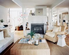 north carolina beach house with white decor and natural textures by lisa sherry | via coco+kelley