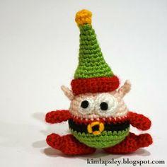 Berg the Christmas Elf. ☀CQ #crochet #christmas