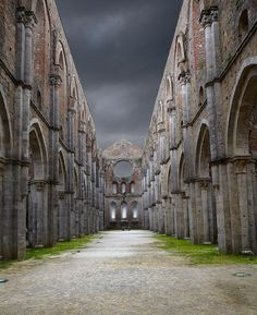 The Abbey of San Galgano, Province of Siena, Tuscany region Italy