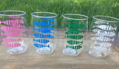 Acrylic wine cups