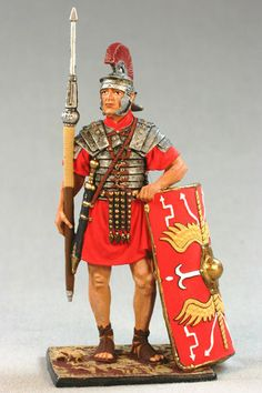 Tin toy soldiers painted 54mm А174 Roman legionary, 1st century AD