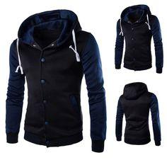Mens Shirt,Haoricu Autumn Winter Men Teens Slim Fit Hoodie Sweatshirt Winter Long Sleeve Coat Jacket