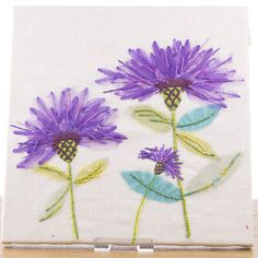 HOCHANDA TV - Arts and crafts channel home of all crafting essentials Silk Ribbon Embroidery, Vintage Embroidery, Embroidery Applique, Embroidery Stitches, Embroidery Designs, Sewing Hacks, Sewing Projects, Sewing Tips, Art And Hobby