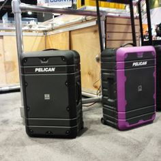 Travel in rugged style! Check out the new Pelican Elite Luggage. #NABShow #purple