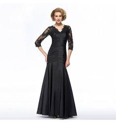 Elegantes Spitzen Abendkleid Schwarz