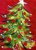 New Painting Ideas Christmas Xmas Ideas Christmas Signs, Christmas Projects, Christmas Art, Winter Christmas, Holiday Crafts, Christmas Decorations, Painted Christmas Tree, Christmas Ideas, Christmas Tree Painting