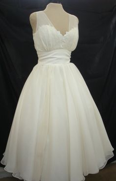 A 50s style cocktail dress lace and chiffon I by elegance50s, $255.00