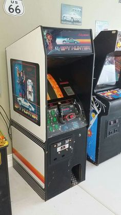 Spy Hunter arcade game. The absolute best game in arcade history! Along with mrs pacman, joust, galaga,defender, dig dug,......