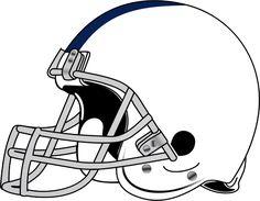Dibujo vectorial de casco de jugador de fútbol americano. Vectores de dominio público.