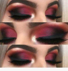 43 Christmas Makeup Ideas to Copy This Season , Matte Red Smokey Eye. , 43 Christmas Makeup Ideas to Copy This Season , Matte Red Smokey Eye. Makeup Goals, Makeup Inspo, Makeup Inspiration, Makeup Tips, Makeup Ideas, Makeup Hacks, Easy Makeup, Makeup Tutorials, Simple Makeup