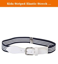 Fancy Kids Elastic Adjustable Belt with Leather Closure Available in 11 Colors