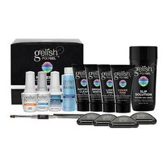 Gelish POLYGEL Master Kit - Become an expert in natural nail enhancements with Gelish® PolyGel® Master Kit! Neither an acrylic nor a hard gel, PolyGel combines the best of both systems in a new, all-in-one formula to enhance natural nails. Kit inc Pedicure Kit, Manicure Set, Garra, Gel Nail Varnish, Acrylic Nails, Acrylics, Gel Polish, Wholesale Nail Supplies, Bond