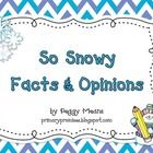 Freebie-So Snowy Facts and Opinions-will help your students identify Facts from Opinions! Good for comprehension! Pinned by SOS Inc. Resources http://pinterest.com/sostherapy.