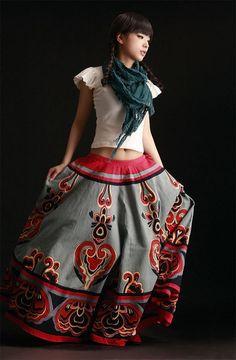 Ethnic Print Long skirt