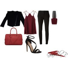 Red fabulous outfit ! by gabi-prikrylova on Polyvore featuring BCBGMAXAZRIA, Gucci, Carvela Kurt Geiger, Yves Saint Laurent, NARS Cosmetics and OPI