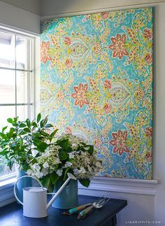 This length of fabric stretched over a frame. | 21 Wall Art Projects That Are Actually Affordable