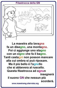 Italian Language School, Italian Grammar, Learning Italian, Home Schooling, Primary School, Nursery Rhymes, Second Grade, Back To School, Literature