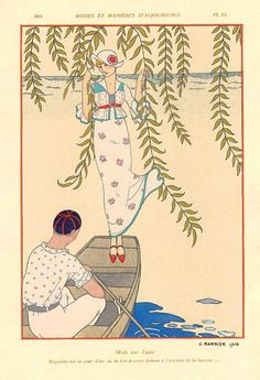 A Celebration of Illustration: Gallery of Illustrations by the French Illustrator George Barbier, Master of Art Deco, Fashion, and Storybook Illustration Illustrations Vintage, Art Deco Illustration, Fashion Illustrations, Art Nouveau, Art Vintage, Vintage Posters, Art Deco Movement, Art Deco Fashion, Fashion Top