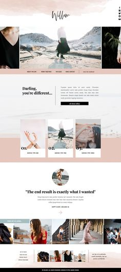 Fashion Website Template for Showit Platform - Wordpress Minimal Theme - Ideas of Wordpress Minimal Theme - Chic Website Design Inspiration Web Design Trends, Layout Design, Site Web Design, Design Sites, Web Design Tutorial, Graphisches Design, Logo Design, Website Design Layout, Design Cars