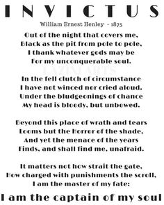 Best Poems. Famous Poem. Invictus. Invictus Poem. William Henley. Full Poem.  William Ernest. Invictus Poem Poster. poem about life. Poster.